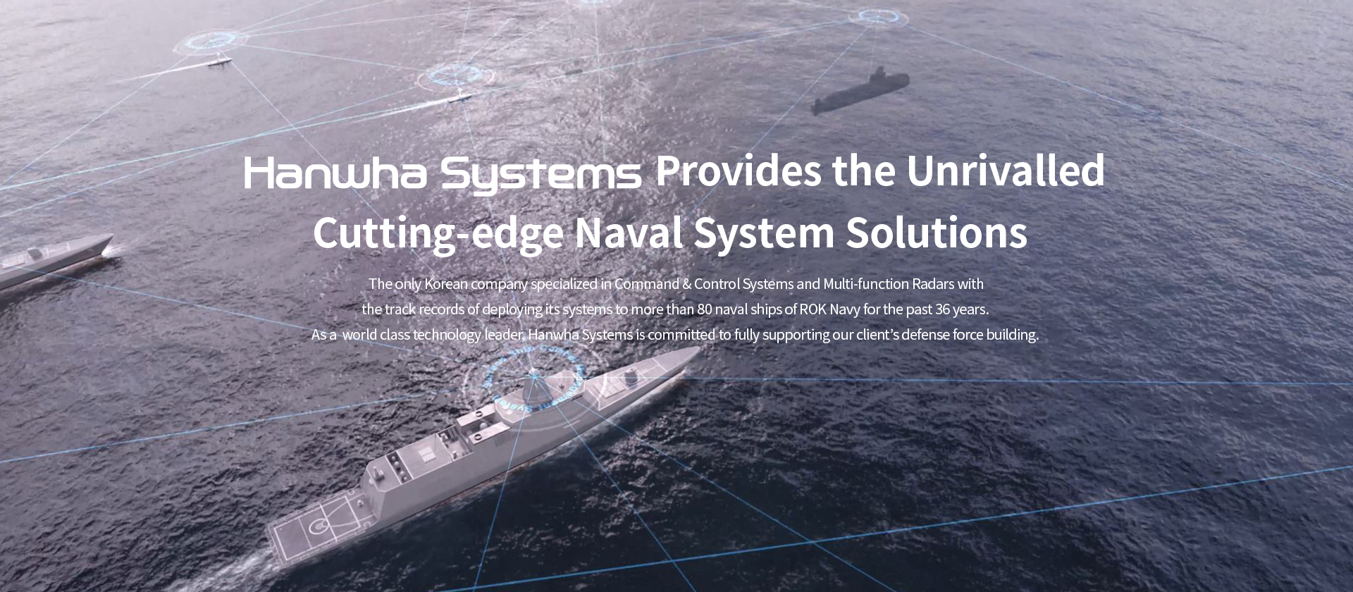Hanwha Systems Provides the Unrivalled cutting-edge Naval Sytem Solustions