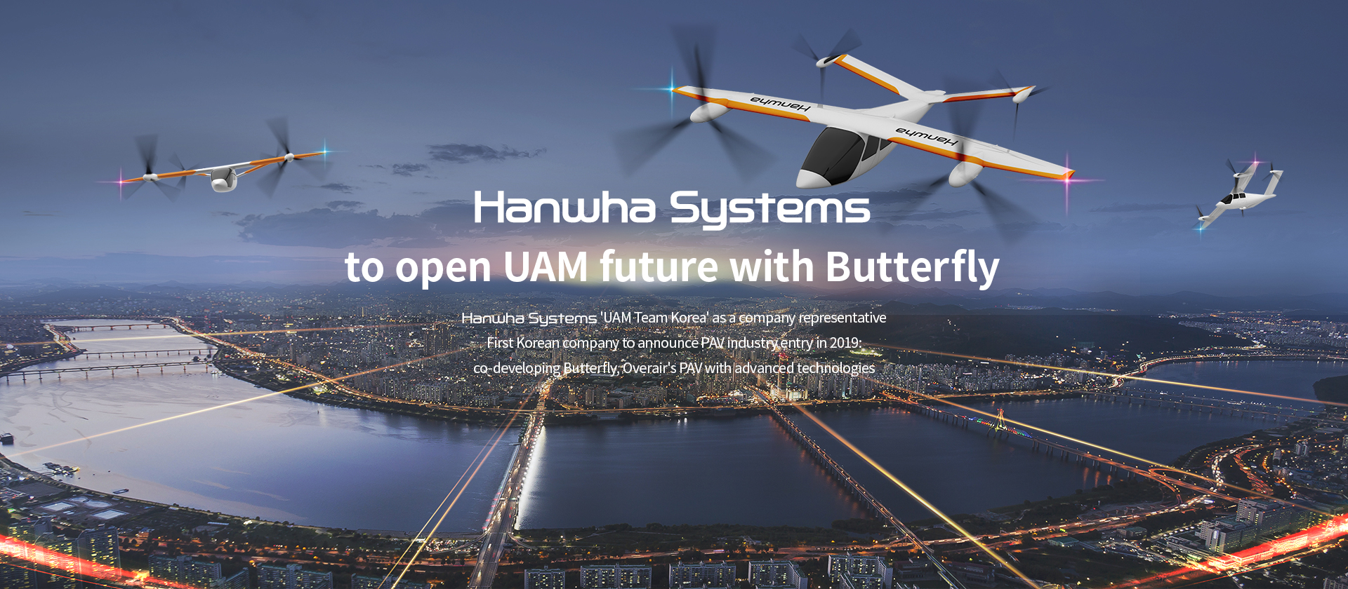 Hanwha Systems and KAC take on flying taxis together.